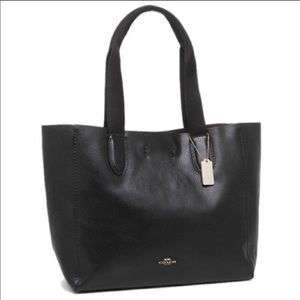 Coach Derby Tote In Pebbled Leather F58660 Black